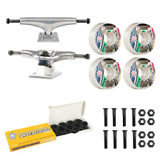 Thunder Skateboard Trucks Silver 145 Bones 51mm Wheels / Bearings Package