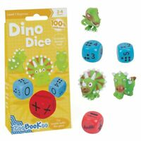 Dino Dice Addition and Subtraction Game - Maths Dinosaur Adding Dice Game Age 3+