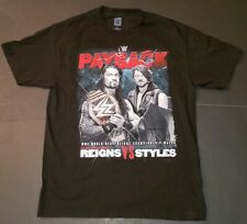 Pre owned WWE Payback Reigns Vs. Styles May 1, 2016 Wrestling T-Shirt Size L