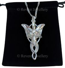 Lord of the Rings Silver EVENSTAR Necklace Pendant Hobbit LOTR + GIFT BAG Arwen