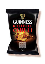 Burts Guinness Chilli Beef Crisps - Available in 20 x 40g Box