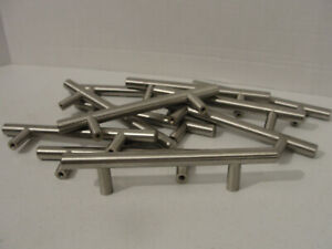 11 Lot Cabinet Bar Pulls 6-Inch Solid Stainless Steel Finish 3.75 Inch CC