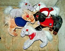 Wells Fargo Plush Legendary Ponies Horses Lot 5 Snowflake Nellie Shamrock Mike
