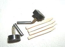 "PAIR OF 1/2"" 12mm 120pin BLACK METAL STILETTO HIGH HEEL SHOE TOPS TIPS TUBES KIT"