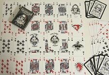 Jeu de 54 cartes avec joker  Death Game skull tête de mort squelette skeleton