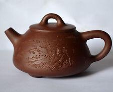 Teapot o34 Pure handmade Yixing zisha 1st mud pu'er Black tea pot 140cc-150ml