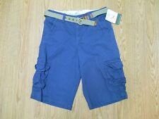 Eddie Bauer 100% Cotton Everyday Size 18 Solid Blue Cargo Short w/Belt SR$38 NEW