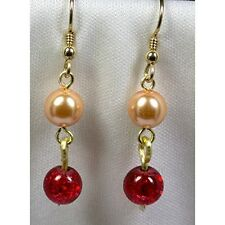 Gold Filled Earrings with Crystal Pearls