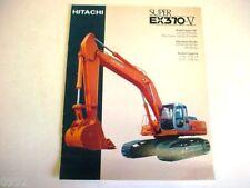 Hitachi Super Ex370-V Excavator Literature