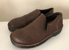 NAOT Mens Size 42 Size 9 Brown Leather Comfort Loafers Oxfords Slip On Shoes