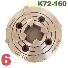 """1 pc Lathe Chuck 6"""" 4Jaw Independent & Reversible Jaw K72-160 sct-888"""