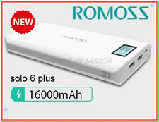 power bank ROMOSS SOLO 6 Plus 16000mAh caricabatteria x iphone ipad galaxy