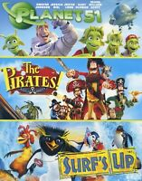 3 PG family animated comedy movies, new DVDs, Planet51, Pirates, Surf's Up