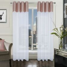 Charlie Sequin Voile Ring Top Net Curtain Panel (Single) - Various Colours