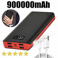 Portable 4USB 900000mAh Power Bank Fast Charge Universal External Backup Battery