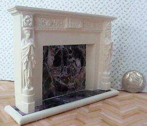dollhouse adams fireplace mantle 1/12 scale miniature decorative surround new