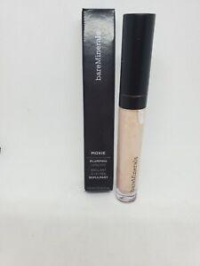 New in Box bareMinerals Moxie Plumping Lip Gloss 0.15oz Full Size, 24 Karat