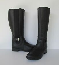 Clarks Womens Black Genuine Leather Knee High Riding style Boots 7.5 M