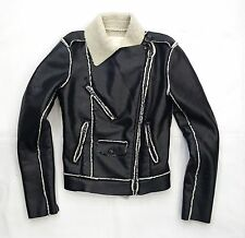 RL Denim & Supply Black Faux Leather Women's Size XS Motorcycle Jacket $225