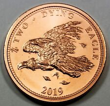 "2019 Dying Eagle Zombucks ""Currency of the Apocalypse"" 1 oz Fine Copper Round"