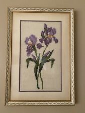 Flower Beauty Fibre Art. Perfect Condition. Over 50 Years Old Painting.