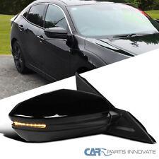 For 16-18 Honda Civic Power Heated 7 Pin Passenger Side Fold Mirror+LED Signal