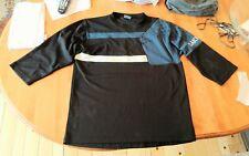 DAKINE Mens 3/4 Sleeve Cycling Mountain Biking Jersey Large BLACK BLUE