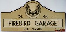 FIREBIRD GARAGE SIGN with an aged look 665mmx320mm all weather sign