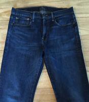 Lucky Brand Mens Jeans 121 Heritage Slim  Manteca Blue Denim Wash Size 34L x 35