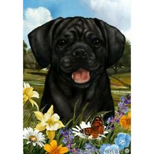 Summer Garden Flag - Black Puggle 182801