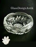 Grosse Kristall Glas Obstschale fein geschliffen hochwertiges Kristall