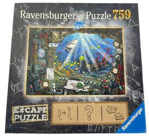 """Ravensburger 759 Piece Jigsaw Puzzle Escape Exit Games 2019 """"Submarine"""""""