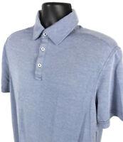 Nat Nast Polo Shirt Mens Size M Medium Blue Short Sleeve 3 Button Front