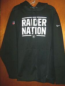 RARE Nike On-Field RAIDER NATION Oakland Raiders Football Hoodie Sweatshirt XL
