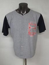 1993 Atlanta Braves Jersey Shirt Logo 7 USA Made Sz Medium M Cotton Gray Jersey