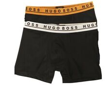 $58 Hugo Boss Men Black 2-Pack Underwear 50403530 Stretch Boxer Briefs Size S
