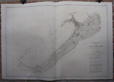 Antique Print-SEA CHART-EGYPT-ALEXANDRIA-COAST-Depot de la Marine-1869