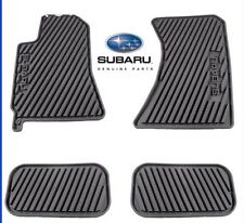 2014-2017 Subaru Crosstrek All weather Heavy gauge Rubber floor mats Black OEM