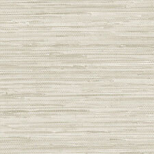 Faux Grasscloth Wallpaper White Washed NT33708 - 33 F00T ROLL  FREE SHIPPING