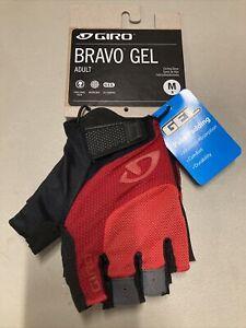 ! Giro Bravo Gel Adult Medium Cycling MTB Bike Gloves Bright Red