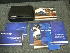 2018 Subaru Crosstrek Owner Operator Manual Set 2.0i Premium Limited