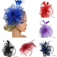 Ladies Flapper Great Gatsby Headband Pearl Charleston Party Bridal Headpiece YP