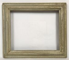 Vintage Mid Century Modern Silver Carved Wood Frame 10 x 12 Opening