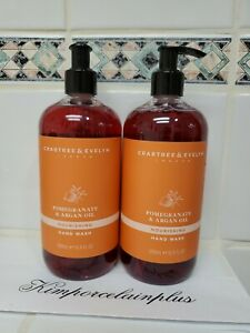 2 X Crabtree & Evelyn  POMEGRANATE & ARGAN OIL Hand Wash Big Size 16.9 Fl Oz