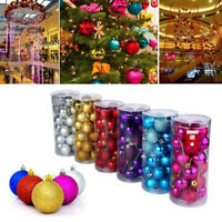 24Pcs Christmas Tree Xmas Balls Decoration Baubles Party Wedding Ornament Pretty