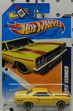 YELLOW RIMS 2012 70 ROADRUNNER GTX PLYMOUTH 1970 MOPAR HW HOT WHEELS