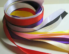 10 x 1 Metre lengths of mixed colours 15mm wide Satin Ribbon - End of Reel Sale