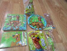 7pc Lot Scooby Doo Designware Birthday Party Goods  Multi-color   NOS
