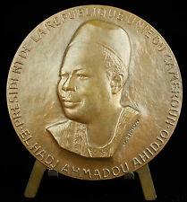 Medaille Ahmadou Ahidjo Cameroun Afrique Africa Chemin de fer Railway 1974 medal