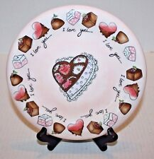 Renae' Lindgren Love What You Do I Love You..Chocolates & Cake Collector's Plate